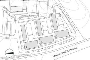 Lageplan Laerheide Bochum, M 1:3000