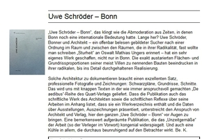 Rezension auf DBZ.de, Bücher: Uwe Schröder - Bonn. Quart Verlag, Zürich 2016