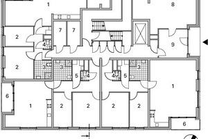 Grundriss Erdgeschoss, Block B, M 1:333<sup>1</sup>/3, Block B + C, EG