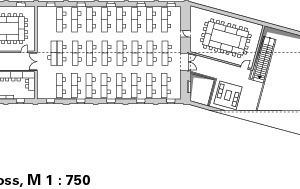 Dachgeschoss, M 1:750<br />