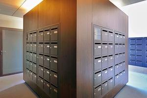 Schöne Lösung für die vielen Briefkästen