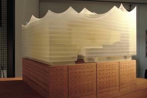 Modell der Philharmonie auf dem Kaispeicher A