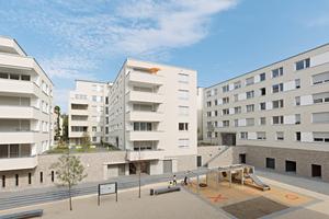Abb. 7: Wohnquartier in Stuttgart Bad Cannstatt, Architekten: Ackermann + Raff, Stuttgart/Tübingen Bauherr: Siedlungswerk GmbH, Stuttgart