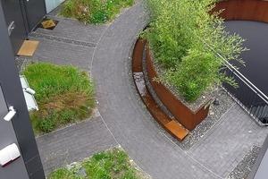 Die Grünplanung stammt von Verde-Gartengestaltung, Berlin, Dr. Dagmar Heitmann, Alexandra Hofmann<br />