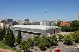 Baustelle der zukünftigen Akademie des Jüdischen Museums Berlin, Juni 2011 (Außenansicht)<br />