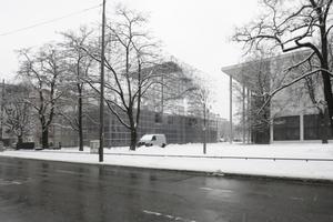 Ansicht Schaustelle über die Türkenstraße hinweg, rechts Pinakothek der Moderne