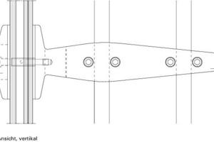 Detail Seilklemme Mittlerer Halt, Ansicht vertikal<br />