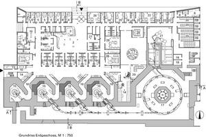 Grundriss Erdgeschoss, M 1:750