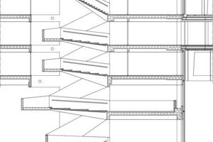 Treppenhausschnitt, M 1:250