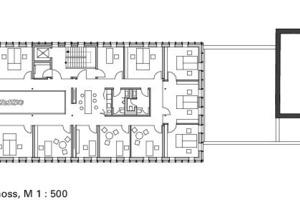 2. Obergeschoss, M 1:500<br />