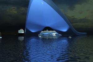 Schwimmendes Terminal für Kreuzfahrtschiffe