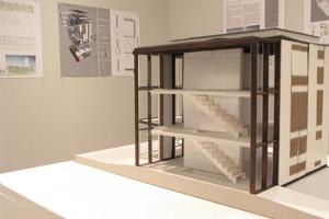 Die Ausstellung umfasste Pläne und Modelle der prämierten Arbeit von Fuhrich