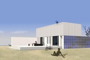 Das Europäische Haus aus Wuppertal funktioniert sowohl im heißen Süden wie im kühlen Norden. Zwei solar und energetisch relevante Wandschotten sorgen für eine ausgeglichene Energiebilanz