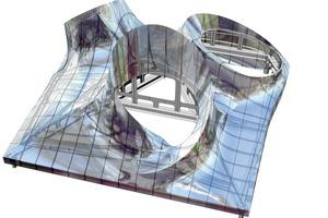 Zur Kommunikation und Abstimmung zwischen Design/Architekt, Konstruktion/Ingenieur und Produktion/Stahlbauer dienten die erstellten 3-D-Modelle &nbsp;<br />