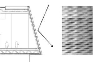 Fassadenoberfläche – diffuse Lichtstrahlung