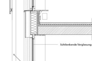 """<div class=""""13.6 Bildunterschrift"""">Südfassade Detailschnitt, M 1:33<sup>1</sup>/3</div>"""