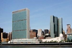 UN Hauptquartier, New York City, u.a. mit Le Corbusier