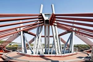 """<div class=""""13.6 Bildunterschrift"""">Architekt und Ingenieur wollten bewusst das Skelett und die Struktur des Gebäudes zeigen</div>"""