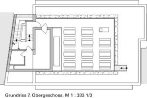 Grundriss 7. Obergeschoss, M 1:333 <sup>1</sup>/3