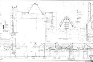 Glasfabrik, Fassaden, Bauzeichnung, Bentley Library