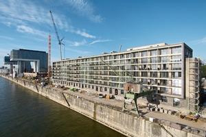 Ehemalige Halle 11, JSWD (Jaspert Steffens Watrin Drehsen) aus Köln, Wohnen und Arbeiten (u.a. Ladenflächen im EG) am Yachthafen