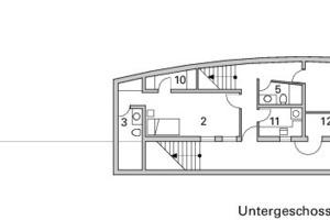 Untergeschoss, M 1:333 <sup>1</sup>/3<br />