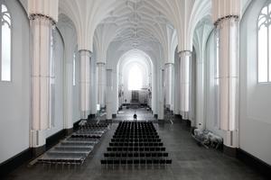 Gotik Anwandlung mit Irritationspotential: der Innenraum des neuen Paulinums in Leipzig