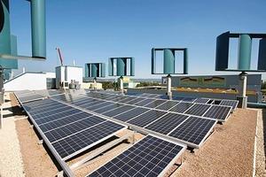 Beispiel für ganzheitliche Planung: Das Energiekonzept für das Gebäude ist so ausgelegt, dass mittels Windkraft, Photovoltaik und Geothermie mehr Energie erzeugt als verbraucht wird