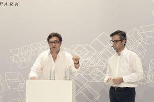 Präsentierten ihr Projekt: Alfredo Brillembourg und Hubert Klumpner von Urban Think Tank.
