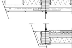 Fassadenschnitt, M 1:33 <sup>1</sup>/3<br /><br />