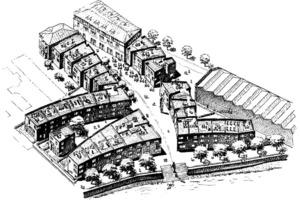 Isometrie Quartier Chronos, 2001, Peter Böhm