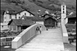 Holzbrücke in Vals/CH