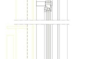 Fassadenschnitt Verwaltung, M 1:20
