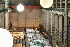 """Blick in die Ausstellung """"Realstadt"""" im ehemaligen Kraftwerk Berlin-Mitte<br />"""