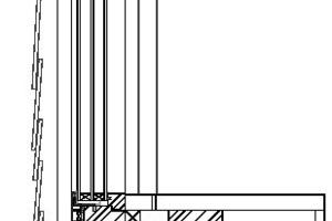 Fensterdetail, M 1 : 10