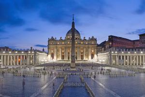 Piazza San Pietro in aktualisiertem Kunstlicht made by Osram