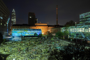 Luminale 2012: Timedrift, eine Video-Licht-Installation auf dem Kultur Campus