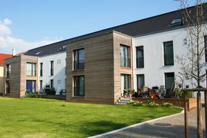 Der zusätzlich Raum im Anbau in Holzbauweise erlaubt einen Wohnungsmix von 2- bis 4-Zimmerwohnungen