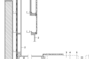 Detailschnitt 2, vertikal, Foyer, M 1 : 33 <sup>1</sup>/3