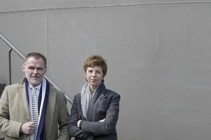 Paul Kahlfeldt und Claudia Kromrei, beide Vorsitz des Deutschen Werkbunds Berlin und Initiatoren des Projekts