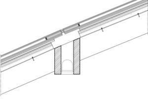 Detailschnitt mit integrierter LED-Leuchte, M 1:10