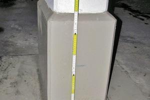 Bild1: Sockelbereich einer Stütze mit Querschnittsveränderung