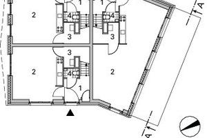 Grundriss Erdgeschoss Block E, M 1:333<sup>1</sup>/3
