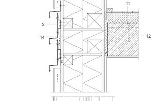 Fassadenschnitt, M 1:15