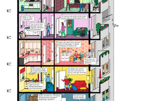 Geschichten, die das Hochhausleben schreibt, hier in den Geschossen 14–25
