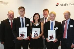 Preisträger 2015, v.l.n.r.: Norbert Schüßler, Sebastian Felder, Laura Föhrenbach, Dirk Vallée, Maximilian Schröder, Josef Hegger