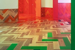 Die fließenden Raumübergänge werden intensiviert durch die raumübergreifenden Farben<br />