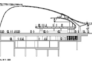 Fassadenschnitt, M 1:500