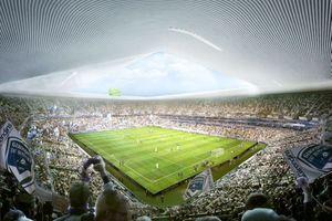 Der Stadionneubau in Bordeaux, Blick in den neuen Hexenkessel für Erstliga-Fussballer und -Musiker etc.