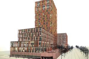 Situla/Vilharjeva gemischte Nutzung: 228 Wohnungen, 6000m² Bürofläche und 2000m² Geschäftsfläche. Dies Projekt befindet sich gerade im Bau<br />